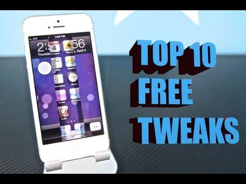 Top 10 FREE Cydia Tweaks For iOS 6.1.3/6.1.2/6.1 - Must Have iPhone 5/4S/4/3Gs Tweaks!