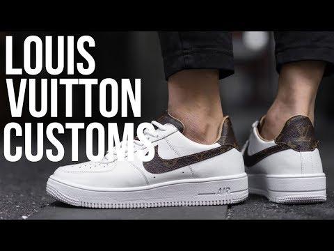 LOUIS VUITTON x NIKE AIR FORCE ONE CUSTOM