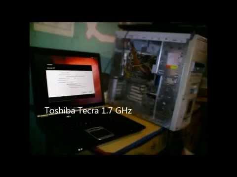 Linux Ubuntu on Toshiba Tecra