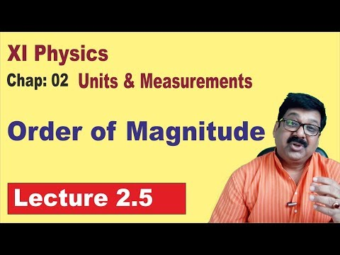 2.5 || Order of Magnitude || Class 11 Physics ||