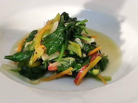 vegetarian spinach stir fry dishes...