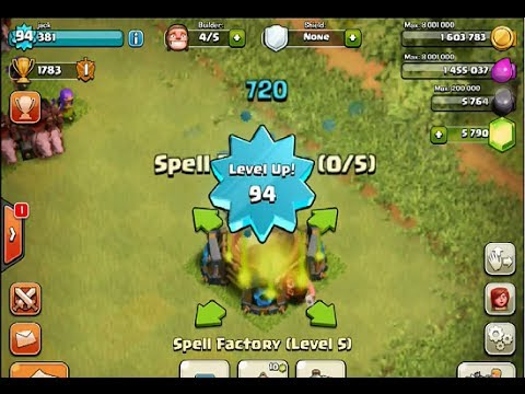 Clash Of Clans : Level 94  , Spell Factory  Level 5