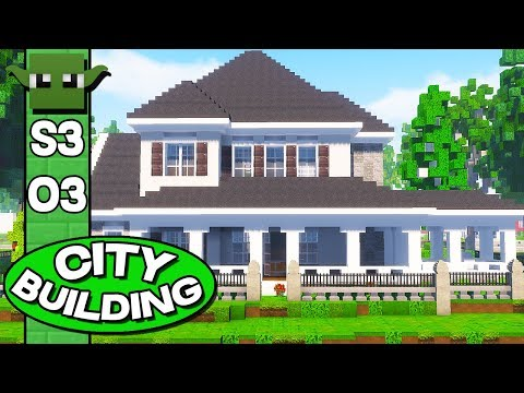 Minecraft City Building Season 3 E03 - AMERICAN HOUSES!