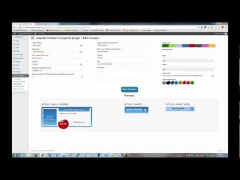 Wordpress JC Coupon Plugin