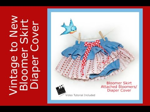 Tutorial Sewing PDF Pattern Bloomer Skirt - Diaper Cover