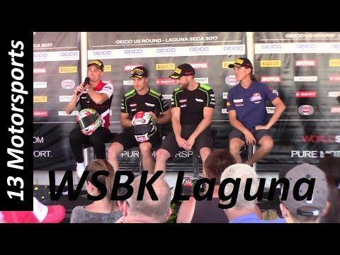 World Superbike rider interviews Laguna Seca!