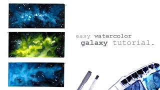 Easy Galaxy Watercolor Painting Tutorial