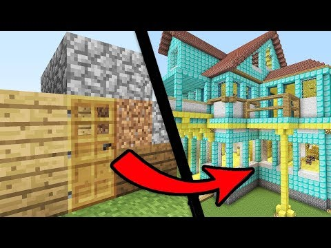 Easy ways to Go from NOOB to PRO in Minecraft - How to Build House Tutorial