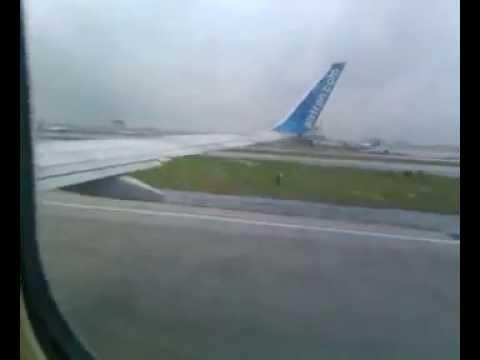 Jet takeoff from Atlanta airport for San Juan PR May 2012