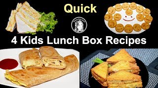 4 Quick Kids Lunch Box Recipes by Kitchen With Amna
