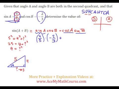 Sum/Addition Identities (Trigonometry) - Intermediate Example