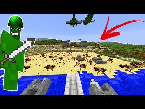 D-DAY CLAY SOLDIERS RAID! (EPIC ATTACK!) • Minecraft Clay Soldiers Mod!