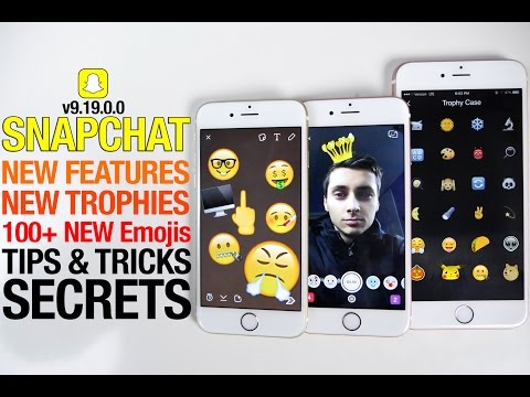 Snapchat Update 9.19.0.0 Secrets + Tips & Tricks! New Trophies, Emojis & Lens Store!