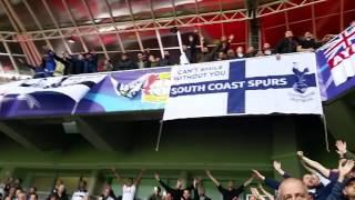 Spurs fans at Leverkusen 18.10.2016