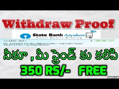 Bank Withdraw Proof of Earn Money Free online Phonepe App Telugu - 2017 Best App for Cashless India