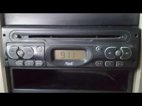 Setting Clock Time Mack truck stereo radio