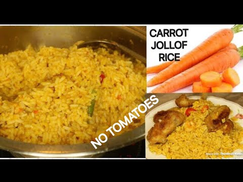 CARROT JOLLOF RICE  RECIPE / HEALTHY & DELICIOUS (A MUST TRY!!)