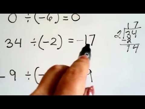 Grade 7 Math #2.2a, Dividing negative and positive integers