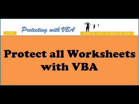 Excel VBA -  Protect all Worksheets with VBA