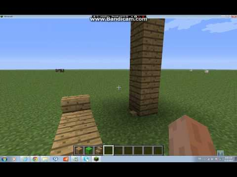 Minecraft---How to make a SHADY UMBRELLA AND A POOL CHAIR