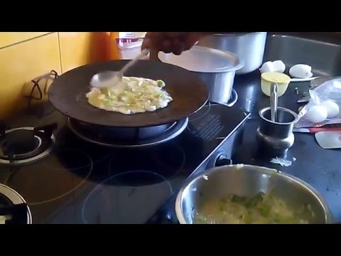 HOW TO MAKE AN OMELETTE-INDIAN STYLE