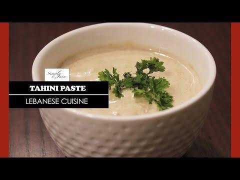 Tahini Dip | How To Make Falafel Jain Tahini Paste | Lebanese Cuisine | Simply Jain