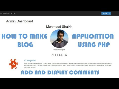 PHP BLOG Application - How to add and Display Comments Part-13