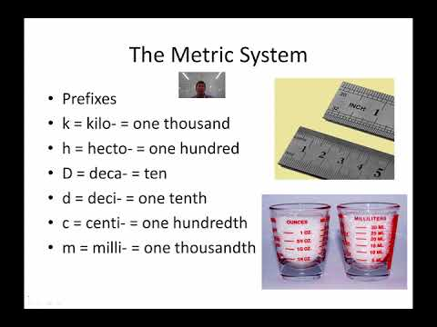 Earth Science Metric System