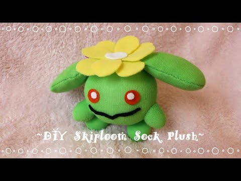 ❤ DIY Skiploom Sock Plush! How To Make A Cute Pokemon Plushie! ❤