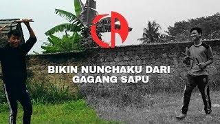 Membuat Nunchaku/duoble Stick Dari Gagang Sapu Bekas