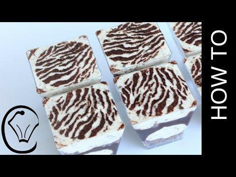 Zebra Print Iced Coffee Tim Tam Cheesecake Dessert Cups