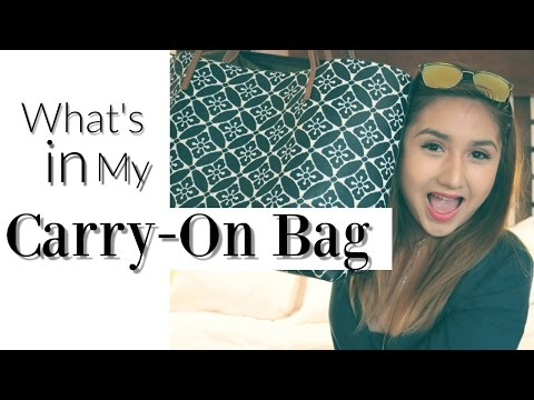 Travel Edition: Whats in My Carry- Bag!! + Helpful Tips!