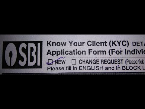 How to fill up kyc form of SBI in Hindi