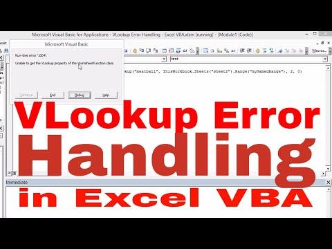 VLookup Error Handling   Excel VBA