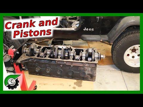Jeep Inline 6 Piston and Crank Removal: Rebuild Part 10