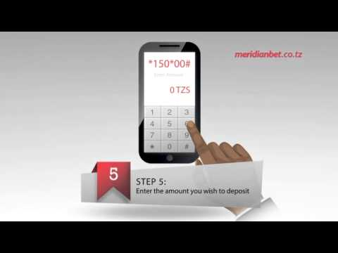 How to deposit money into your Meridianbet.co.tz account using Vodacom M-PESA