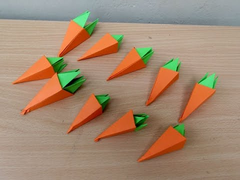 How to Make a Paper Carrot - Easy Tutorials