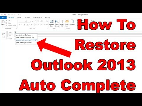 [FIXED] How To Recover Outlook 2013 Auto Complete Contacts