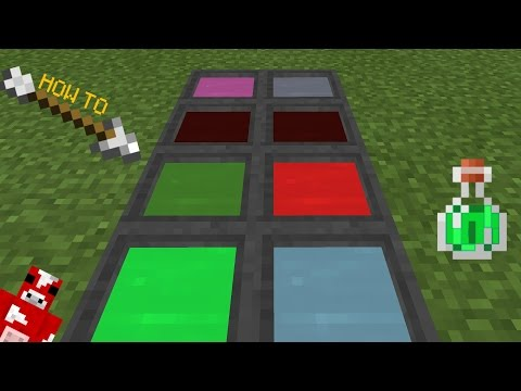 ✔ MCPE   How To Have Colored Cauldron Water