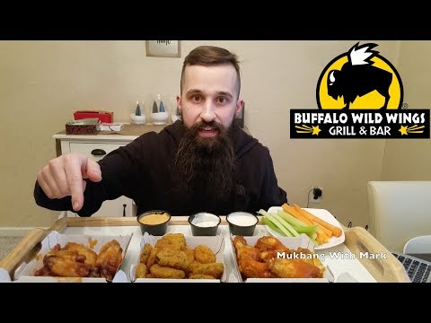 BUFFALO WILD WINGS | MUKBANG | feat. Wings and Fried Pickles | [먹방]