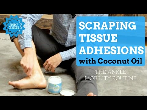 How to Break up SCAR TISSUE with Coconut Oil and a tool by The Source Chiropractic