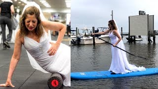Single Woman Takes Online Dating Photos in Wedding Dress to Find