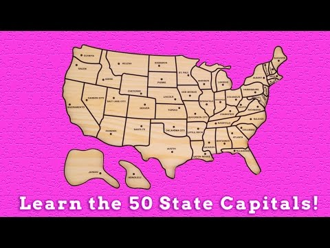 Learn the 50 United States Capitals Learn Geography United States Puzzle