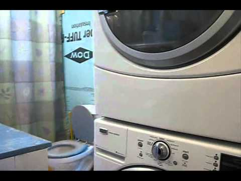 Installing a washer dryer stacking kit