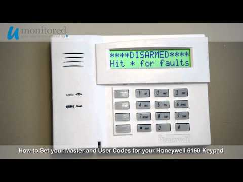How to Set the Master and User Codes on your Honeywell 6160 Alarm Keypad