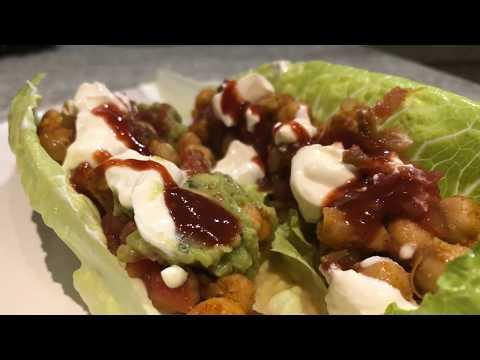 Taco Chickpeas Lettuce Wraps