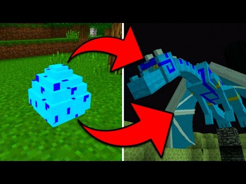 How To Hatch the Blue Dragon Egg in Minecraft Pocket Edition (Elemental Mobs Addon)