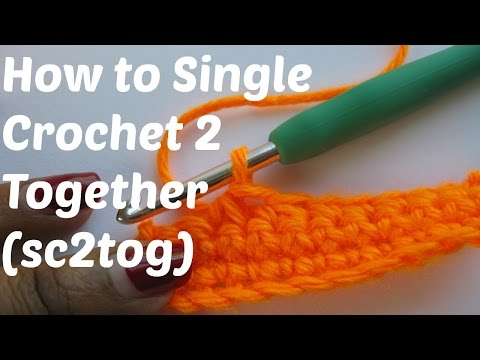 How To Crochet - Single Crochet 2 Stitches Together (SC2TOG)