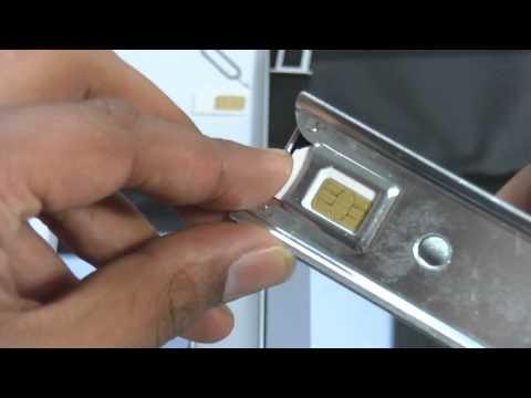 Rebel Lite Silver Micro Sim cutter Demo for iphone 4 & ipad by Rebel sim card Team UK