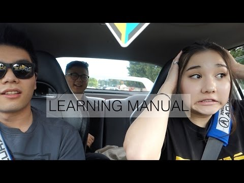 GIRL LEARNING HOW TO DRIVE A STICK SHIFT